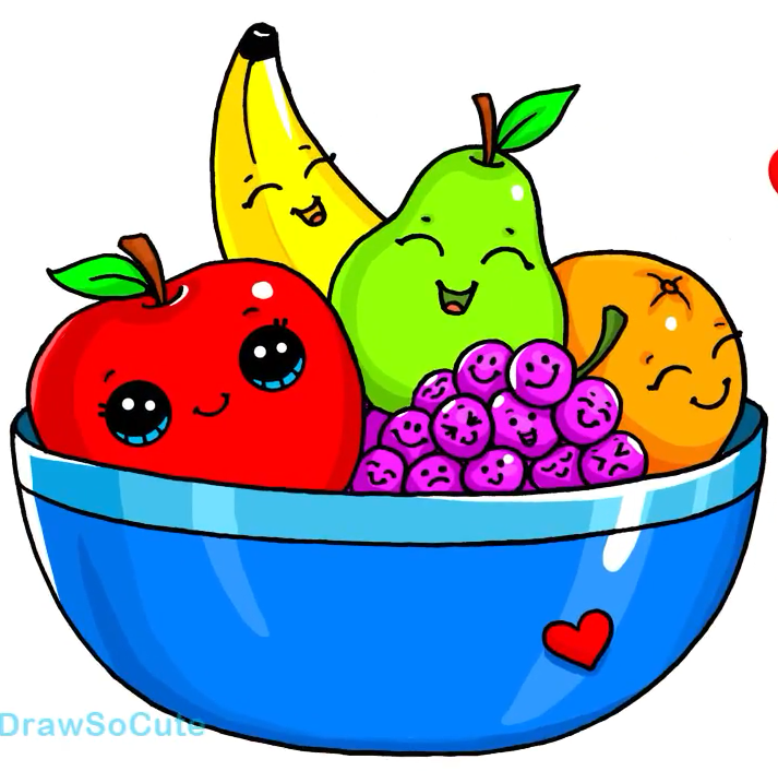 Fruit Bowl Drawing | Free download on ClipArtMag