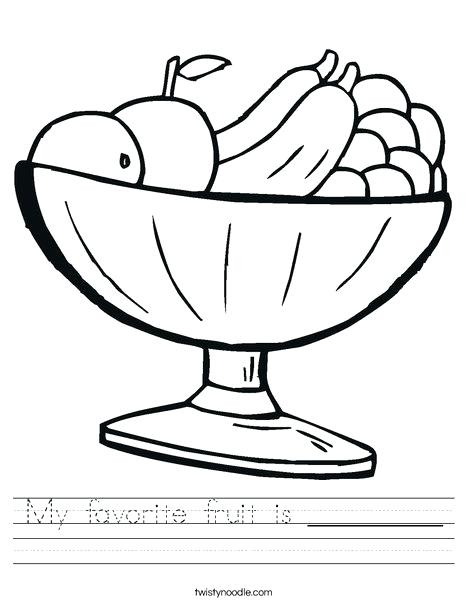 468x605 Fruits Drawing Worksheets Coloring Picture Of Fruit Pages