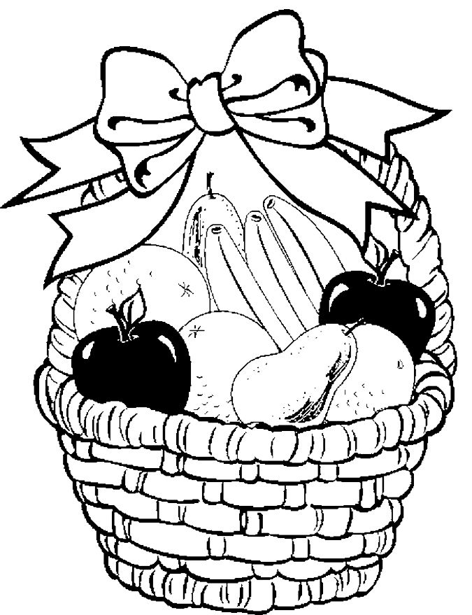 675x879 Huge Collection Of 'food Basket Drawing' Download More Than