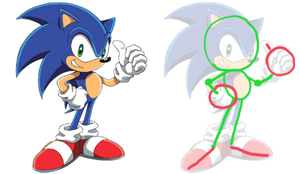 600x349 How To Draw Sonic