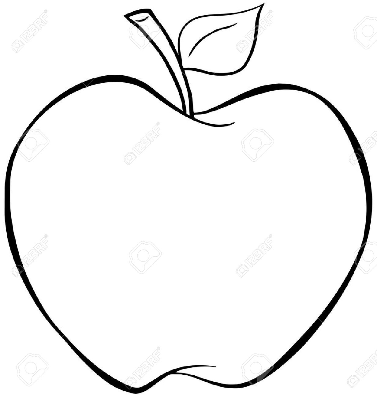 1232x1300 Huge Collection Of 'apple Line Drawing' Download More Than