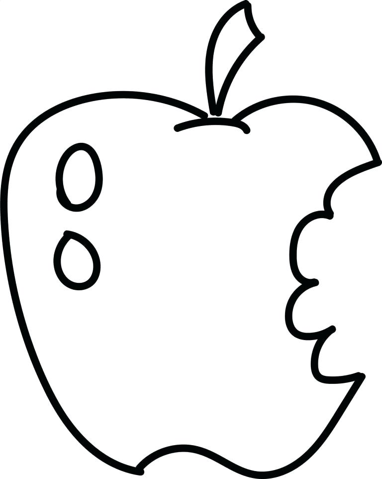 768x962 Simple Apple Drawing Line Drawing Of Apples Simple Line Vector