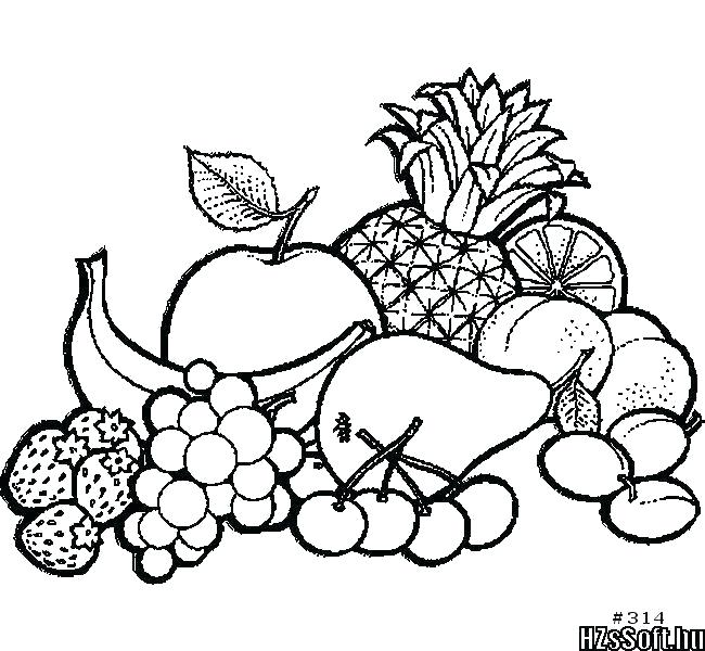 650x600 Fruits Drawings