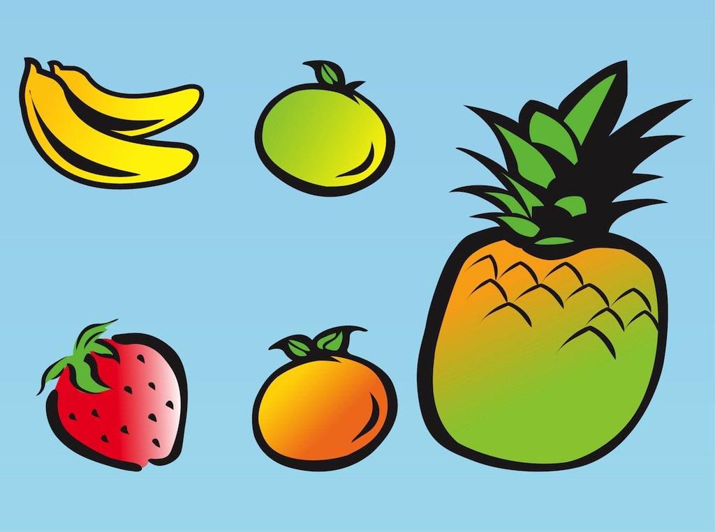1024x763 Fruit Drawings Vector Art Graphics