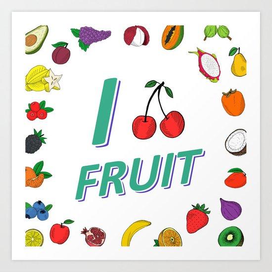 550x550 Fruit Salad Drawing Art Print