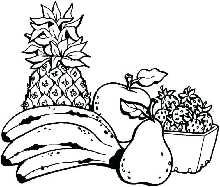 756x644 Fruit Salad Drawing Black And White Salad Clipart