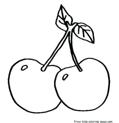 400x415 cherry drawing how to draw a cherry cherry drawing pic