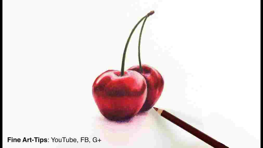 1011x569 Colour Pencil Shading Fruits