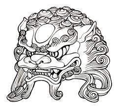 236x222 Best Foo Dog Images In Dog Tattoos, Foo Dog, Oriental