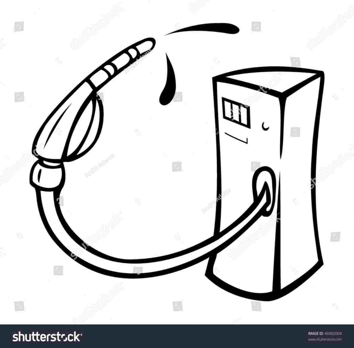 1185x1166 Oline Fuel Dispenser Car Royaltyfree Clip Art Rh