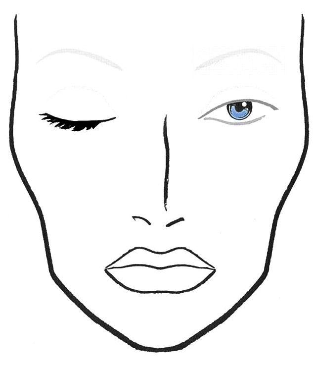Full Face Drawing