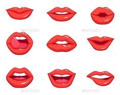 Full Lips Drawing