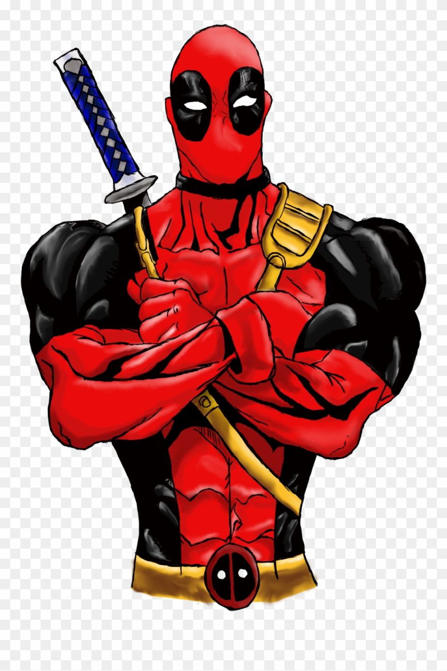 880x1321 Full Size Of Deadpool Drawing In Pencil Images Cartoon Clipart