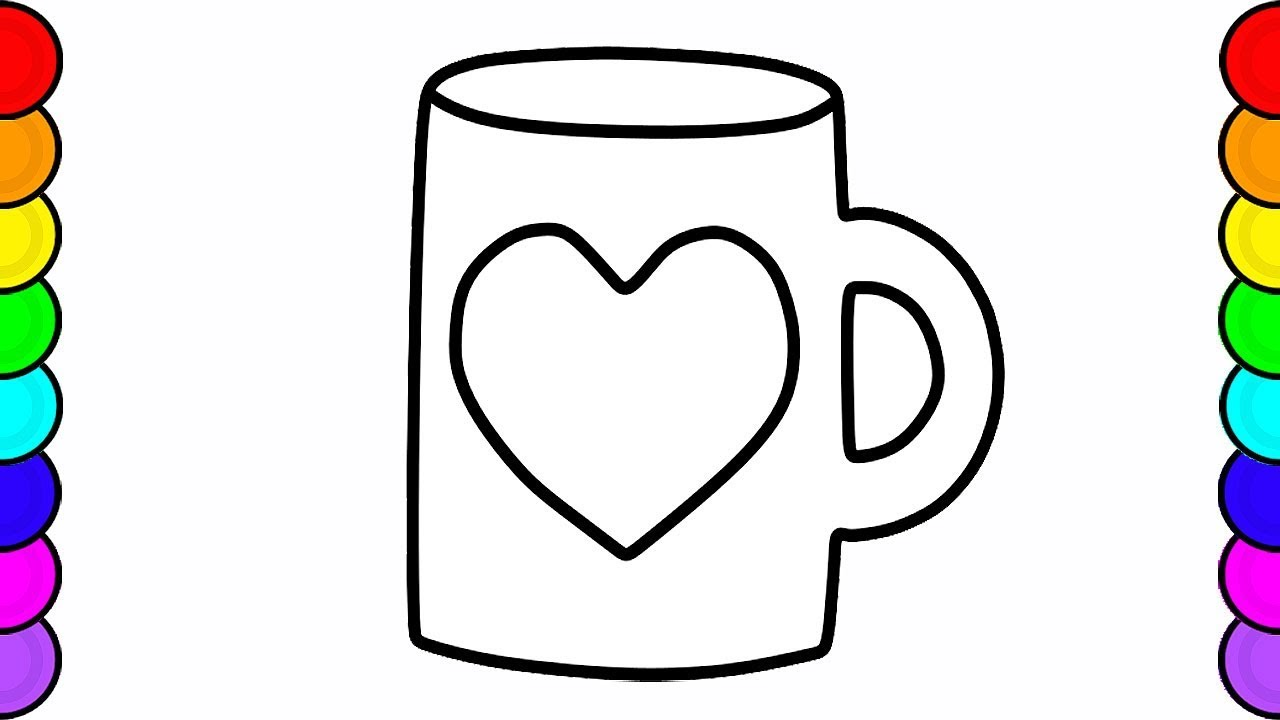 1280x720 Fun Indoor Activities Shapes Mug Drawing And Coloring For Kids