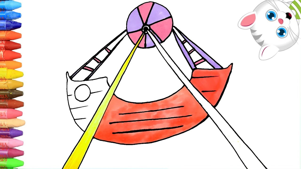 1280x720 drawing funfair vehicle coloring for toddlers and drawing