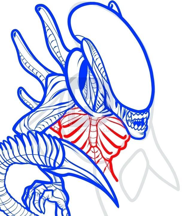 615x720 draw an alien alien draw vector image draw alien face