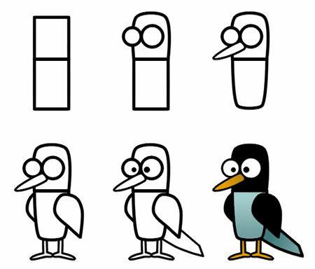 450x384 Drawing Cartoon Birds