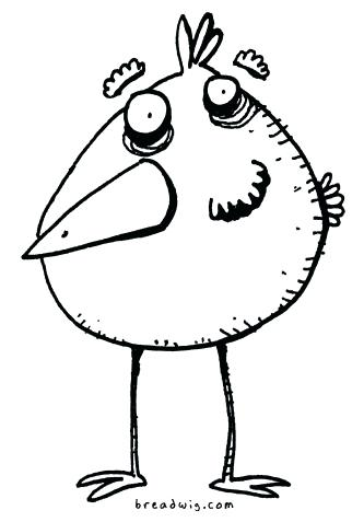 333x477 Funny Bird Drawings Drawn Bird Funny Coloring Book Pages