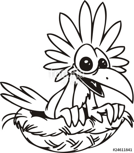 436x500 Funny Bird In The Nest Funny Birds Stock Image And Royalty Free