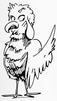190x337 Funny Cartoon Bird Travel Mug Spreadshirt