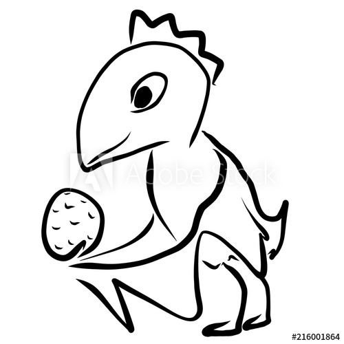 500x500 Funny Children's Drawing, A Bird Holding In The Wings An Egg