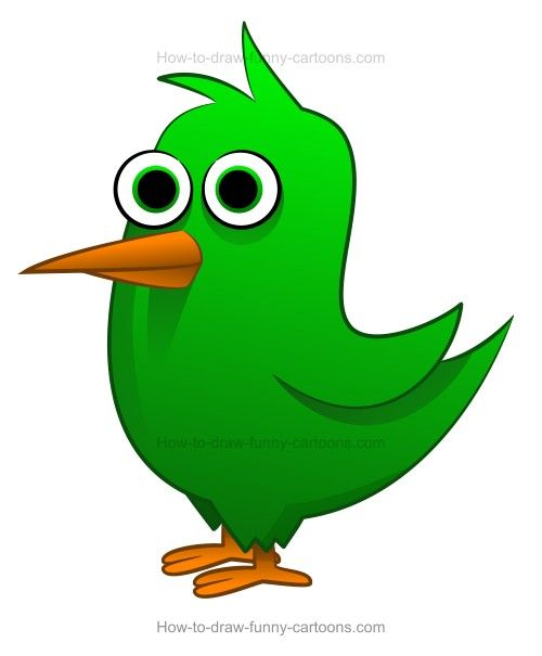 500x605 How To Draw A Cartoon Bird In Drawing Cartoon Birds
