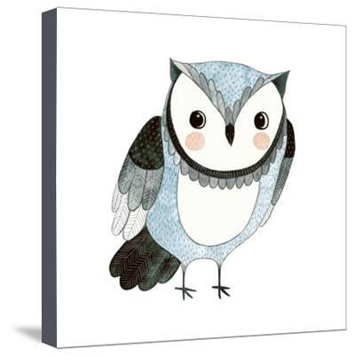400x401 Watercolor Funny Kids Illustration With Owl Hand Drawn Animal