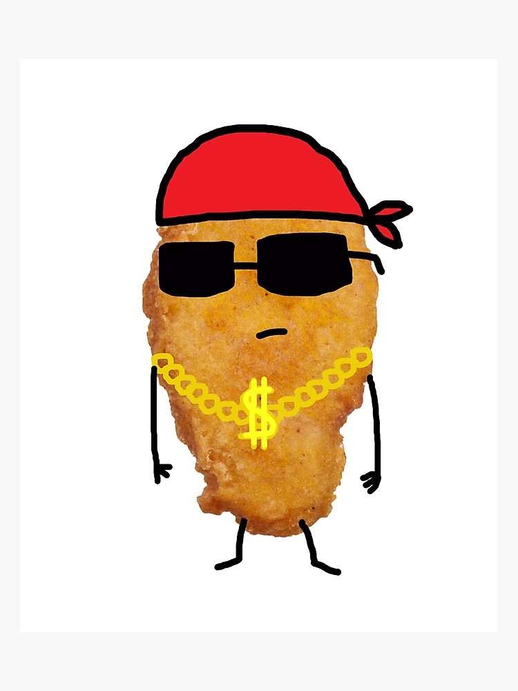 750x1000 Funny Chicken Nugget Gangster Nug Life Photographic Print