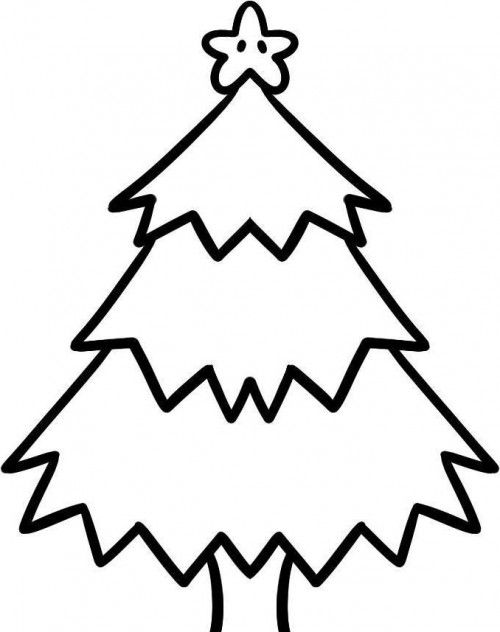 500x632 Christmas Tree Which Is Cool And Funny Coloring