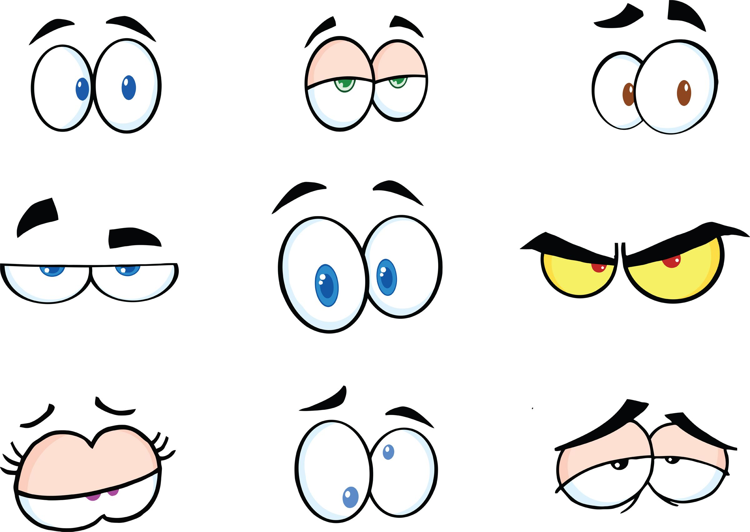 2400x1701 Funny Cartoon Eyes Clipart