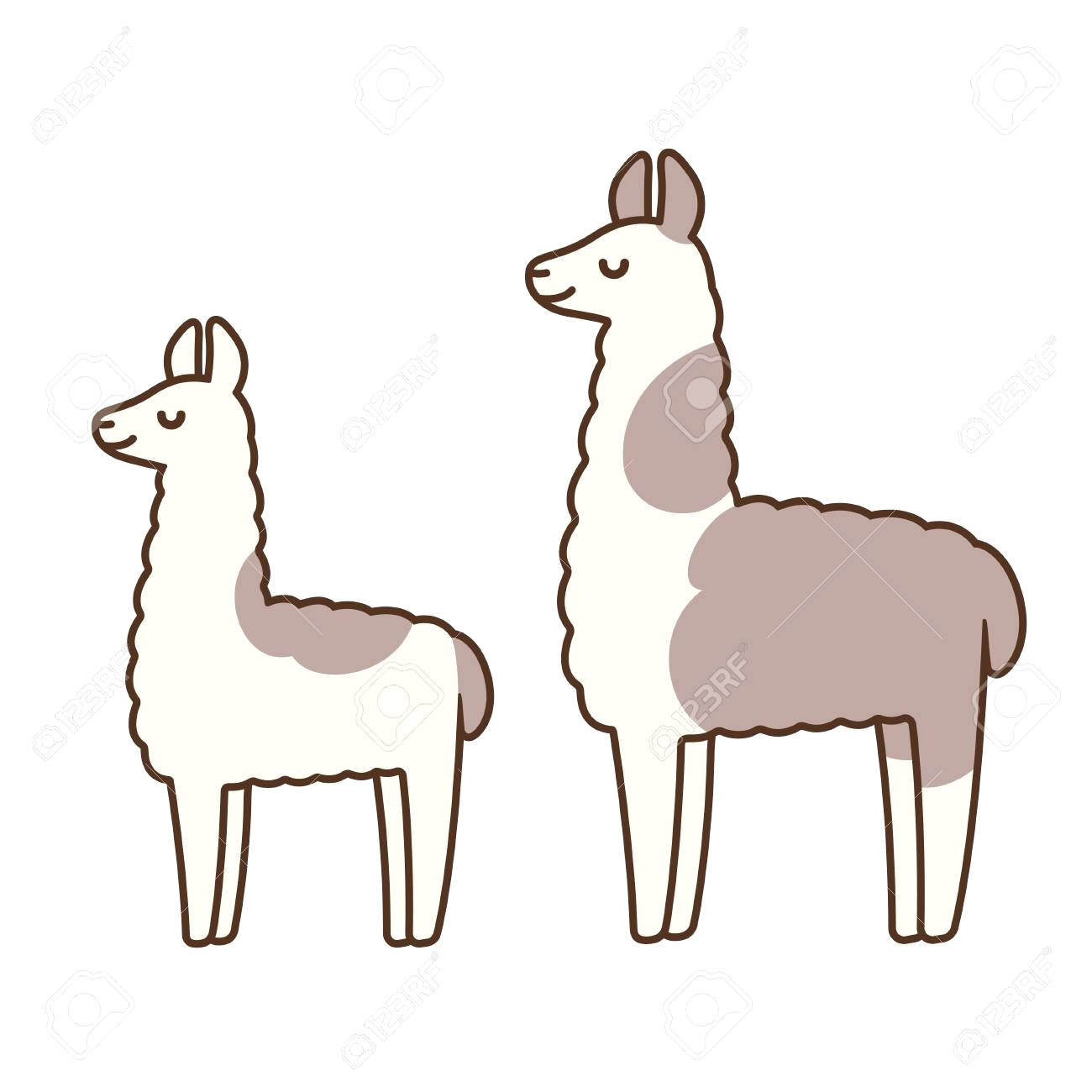 1300x1300 Cute And Simple Llamas Drawing Adult Baby Llama Funny