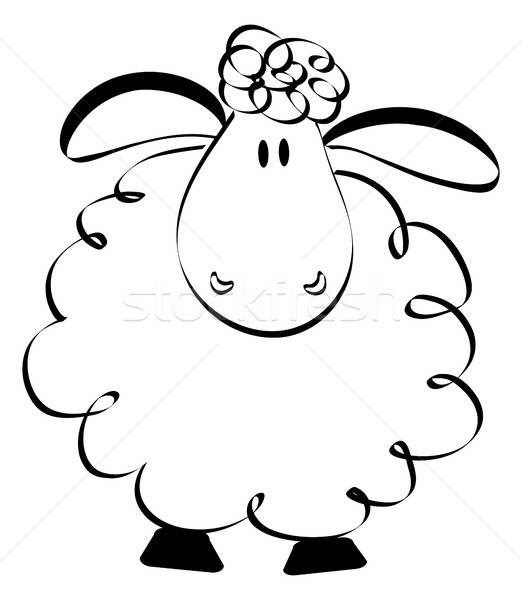 522x600 Funny Sheep Drawing Vector Illustration Jagoda