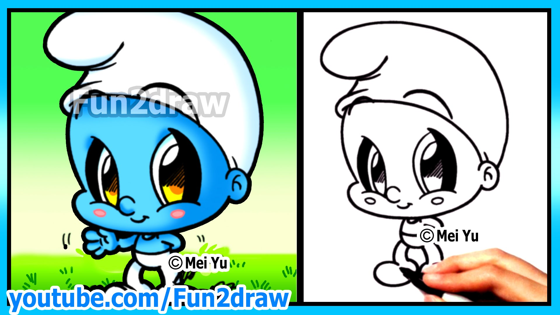 1920x1080 How To Draw Cartoons Smurf + Funny Extra Drawing Cute Art