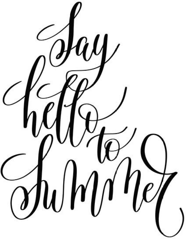 648x832 posters say hello to summer printed poster funny poster