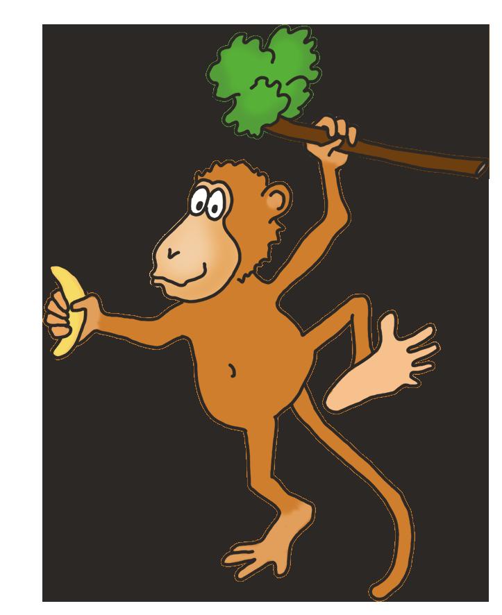723x886 Funny Monkey Drawings