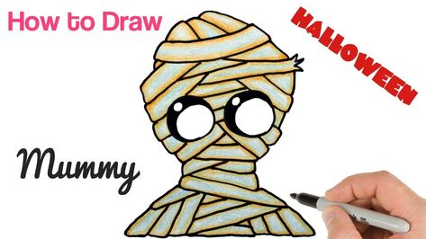 473x266 How To Draw Cute Mummy For Halloween Funny Drawings For Kids