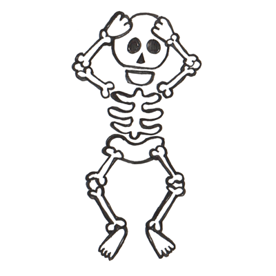 400x400 How To Draw Cartoon Skeletons With Step