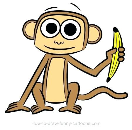 450x442 Monkey Drawing Color Monkey Drawing Funny Monkey Drawing Pictures