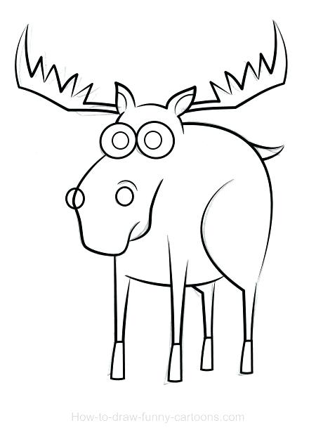450x622 how to draw moose moose drawings draw moose easy