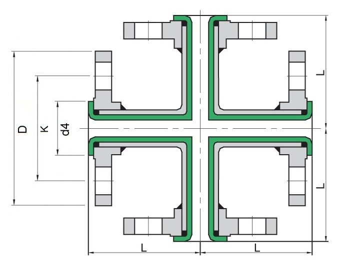 694x547 ga drawing lined cross ptfe lined pipes and teflon lined