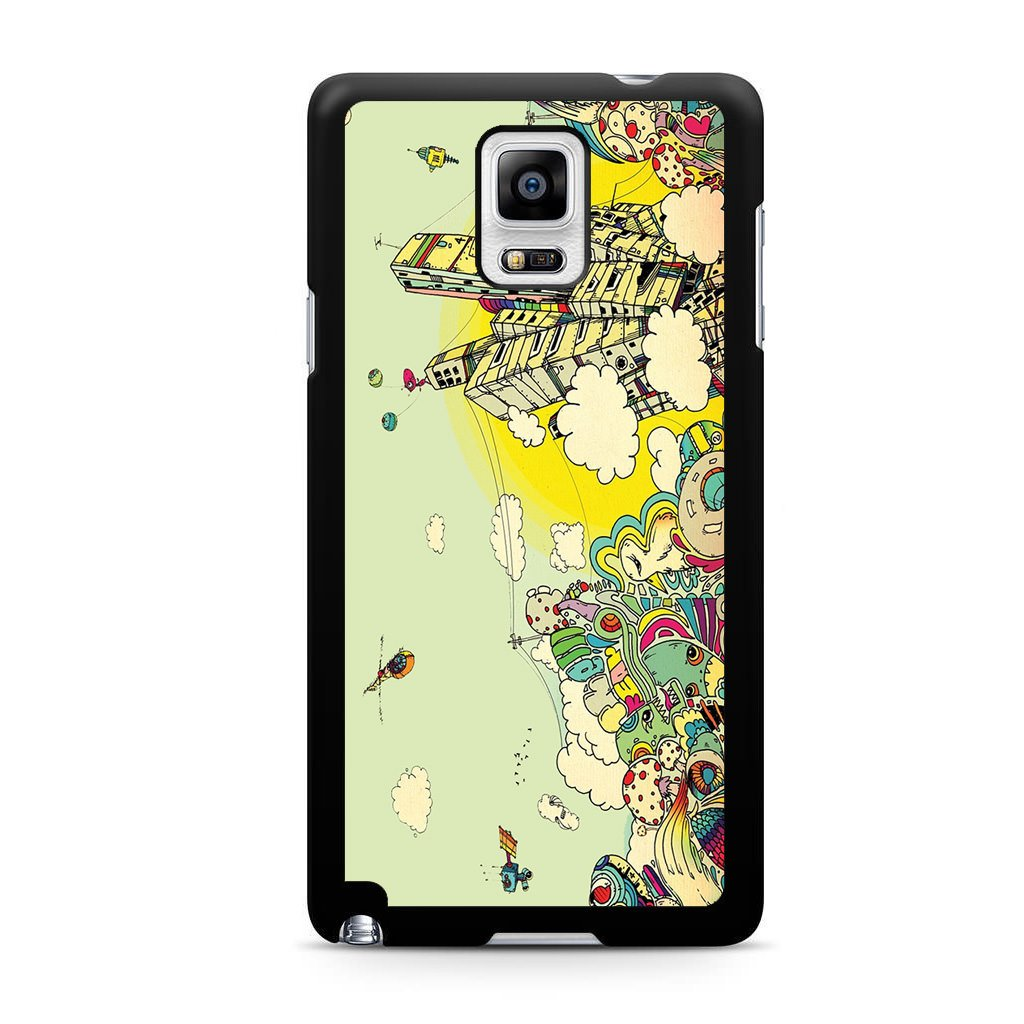 1024x1024 Colorful City Drawing Art For Samsung Galaxy Note Case Maydistore