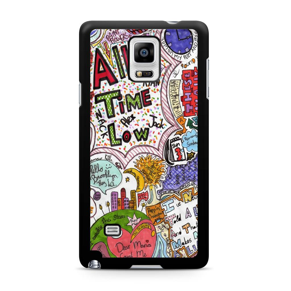 1024x1024 all time low quote drawing samsung galaxy note case case persona