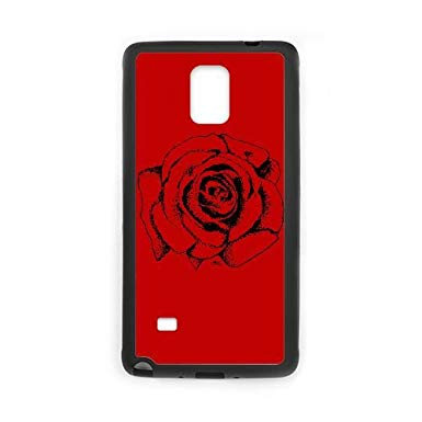 385x385 Samsung Galaxy Note Cell Phone Case Black Rose Drawing Khyes
