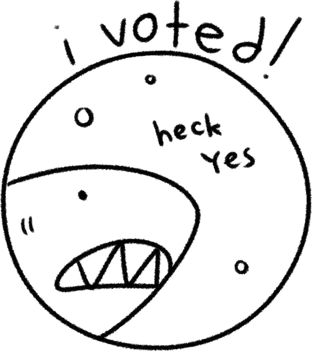 1067x1200 gale galligan on twitter boo! boo!! here's a voter