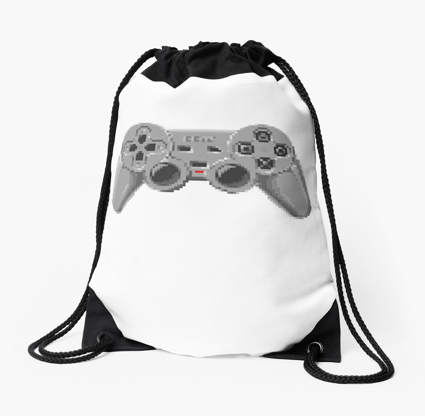 1435x1404 console gamepad pixel art drawstring bag