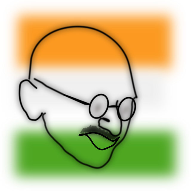 640x640 Download Gandhiji Images For Drawing Clipart Drawing Sketch