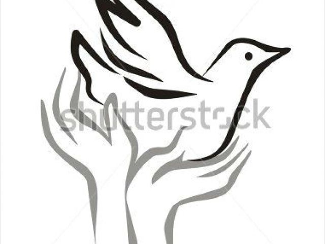 640x480 Drawing Of Hands Open Dove Bird Sketch Peace Flying From The Open