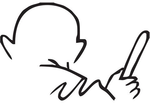 480x330 How To Draw Mahatma Gandhi Face Easily