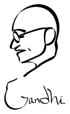 294x480 Jesmail Line Drawings Of Mahatma Gandhi