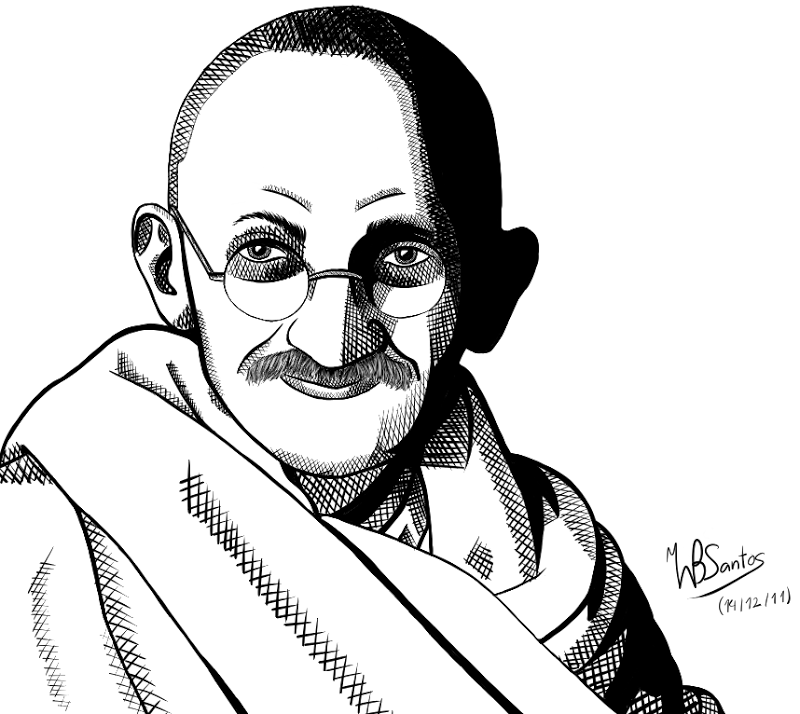 800x714 Gandhiji Drawing Cartoon For Free Download